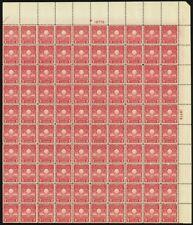 654, Vf Mint Nh Wide Top Sheet of 100 2¢ Stamps Brookman $240.00 - Stuart Katz