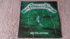 superb ! METALLICA 100% ORIG LP France GREEN COVER MISPRINT Ride The Lightning
