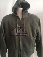 Men's Quiksilver Prescott Full Zipper Green Hoodie Size L