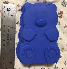 "Silicone Flexible Teddy Bear Shape Blue 5""x1.5"""