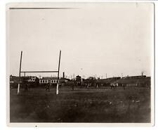 1920s Vintage image football game players uniformfactory town railroad tracks#