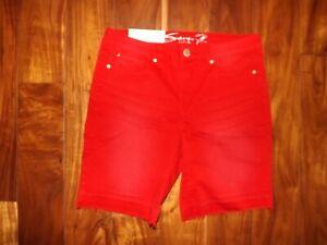 SEVEN 7 Womens Haute Red Release Hem Denim Weekend Bermuda Shorts 6
