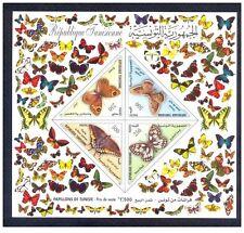 2001– Tunisia- Tunisie- Butterflies - Papillons- Imperforated minisheet MNH**