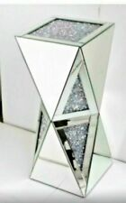 Large Mirrored Diamond Mirror Bed Side Bedside/Living Room Coffee Table Bedroom