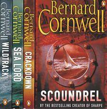 BERNARD CORNWELL, WILDTRACK, SEA LORD, CRACKDOWN & SCOUNDREL NEW 4 BOOK SET