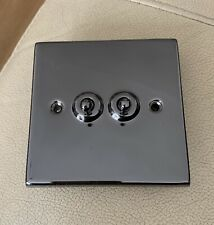 Two Gang Toggle Light Switch Nickel Effect 2 Gang