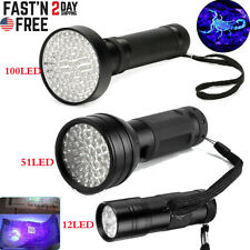 100/51/12 LED UV Ultra Violet Blacklight LED Flashlight Lamp Torch Purple Light