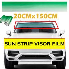 "Windshield Tint  Universal 10/""x 80/""  Sunstrip Visor Eyebrow Choose 5 20 35 50 hq"