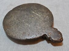 Original Old Antique Hand Carved Black Sand Stone Chapati Rolling Plate