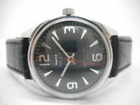 HMT PILOT HAND WINDING MEN'S STEEL VINTAGE INDIA MADE WATCH RUN FREE SHIP