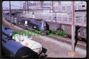 Original Slide, PC Penn Central GG1 #4907 Train Action, 1970