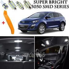 8 x Xenon White Interior LED Lights Kit + TOOL For 2007 - 2012 Mazda CX-7 CX7