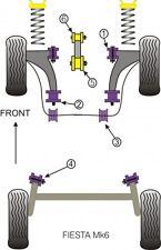 POWERFLEX FRONT LOWER WISHBONE  BUSH KIT MK6 FIESTA INC  ST150