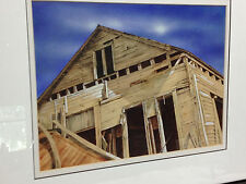 """1976 Watercolor Painting Old Dilapidated House """"The Tole House"""" By Drew Strouble"""