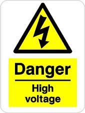 Pericolo alta tensione warning adesivo 20cmx15cm autoadesivo in vinile decalcomania