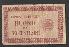 BUONO COMUNALE TRIESTE E CAPODISTRIA 1945 50 CENTESIMI