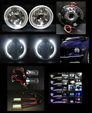 "H6024 H6012 H6015 H6017 H4 7"" LED Halo Projector Headlights w HID 4.3K 6K 8K 10K"