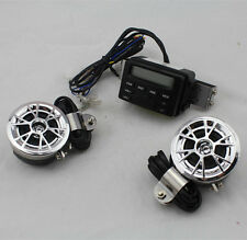 Handlebar Audio System Stereo Amplifier Speaker FM Radio Motorcycle Scooter ATV