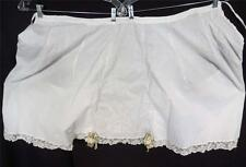 Antique Victorian-Edwardian Hand Embroidered White Cotton Bloomers Sz S-M
