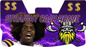 Custom Minnesota Vikings Randy Moss Football Helmet Visor, W/ Unbranded Clips
