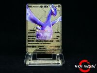 Carte Pokemon Lugia Shadow - GX EX Gold Carddass Fan Made Metal Card Billet