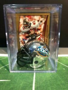 Tampa Bay Buccs Mike Alstott Chrome Super Bowl XXXVII Helmet Shadowbox w/ Card
