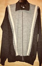"NWT Men's ""Prince Bellini"" Wool Blend Full-Zip, Side Packets Sweater, size XL"