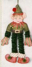 KW 1222 TS Designs Xmas Elf Dangler Doll HP Hand Painted Needlepoint Canvas
