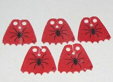 LEGO LOT OF 5 VERY USED RED FRIGHT KNIGHT SPIDER CAPES CLOTH PARTS