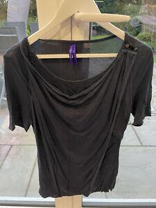 Seraphine Blue Nursing Breastfeeding Top T Shirt Size 16