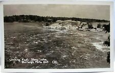 1945 REAL PHOTO POSTCARD LOOKING EAST, STONY LAKE BURLEIGH FALLS ONTARIO CANADA