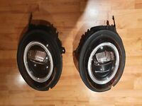 PAIR MINI ONE COOPER S F56 F57 LCI BLACK LED XENON HEADLIGHTS