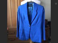 Emilio Pucci  Blue Silk Jacket And Tank 2 Piece Set Size S