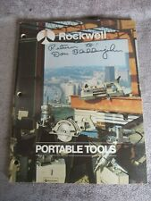 Vintage 1973 Rockwell Power Tools Catalog AD-2470 7/73 7Y(17)