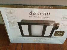 MERCATOR DOMINO LED WHITE HIGH AIRFLOW BATHROOM 3-IN-1 HEATER EXHAUST FAN LIGHT
