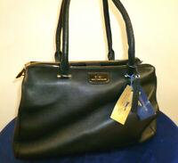 PAUL COSTELLOE Mulano Large Genuine Leather Black Tote City Shoulder Hand Bag
