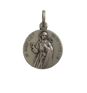 SAINT BRIGIT- 925 STERLING SILVER MEDAL - MADE IN ITALY