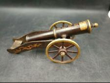 China Handmade Antique Copper Cannon Feng Shui  Ornaments Crafts Seiko Model