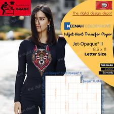 NEENAH TRANSFER PAPER JET OPAQUE II® 50 SHEETS FOR DARK FABRICS 8.5x11