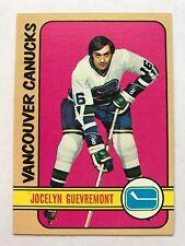 1972/73 Topps Hockey Card #75 Jocelyn Guevremont Vancouver Canucks NM