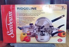 NEW 7pc. Sunbeam Ridgeline Stainless Steel Cookware Set