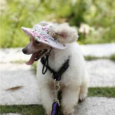 Summer Adjustable Canvas Pet Dog Hat Supply Ear Hole Cotton Outdoor Baseball Cap