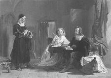 PHILIPP MELANCTHON, German Protestant Reformation ~ Old 1863 Art Print Engraving