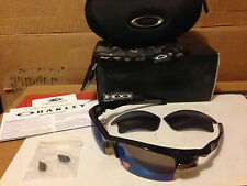 3d8185c036 NEW Oakley Fast Jacket XL AF Black Plaid G30 Iridium Polarized   Grey  OO9163-09
