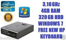 HP Compaq 8200 SSF Elite Core i5 3.10 GHz, 320 GB 4 GB PC Desktop Windows 7