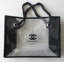 Chanel Beaute Clear Transparent Makeup Cosmetic Bag New