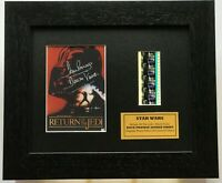 Dave Prowse, Darth Vader signed STAR WARS Return of The Jedi + Film Cells + COA