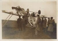 Frankreich Zerstörung Flugzeug Militär Potez 25 Foto Vintage Analog 1939