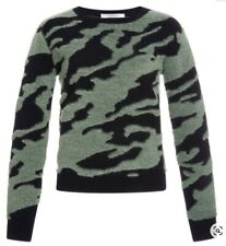 Carven Womens Camouflage Print Jacquard Wool Sweater Size XS
