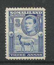 Somaliland 1938 Sg 96, 3a Bright Blue, Mounted Mint [550]